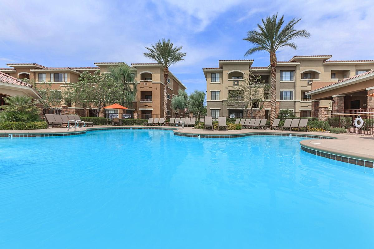Two Shimmering Swimming Pools at The Preserve Apartments