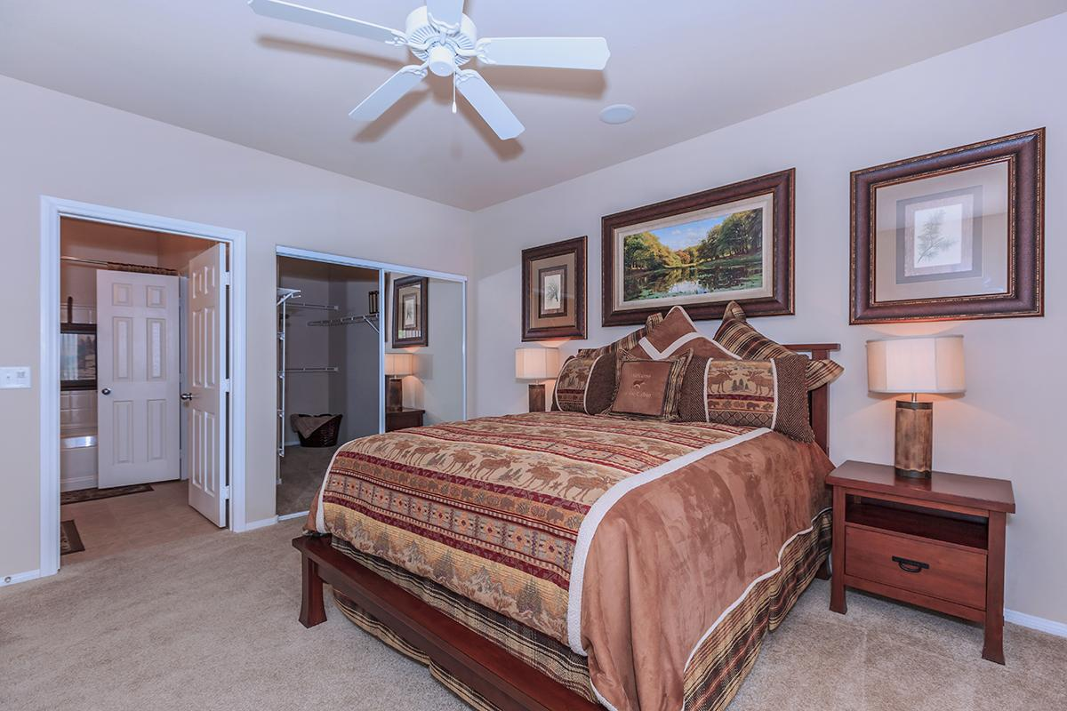 Ceiling Fans and Carpeted Floors in Homes at The Preserve Apartments in North Las Vegas, Nevada