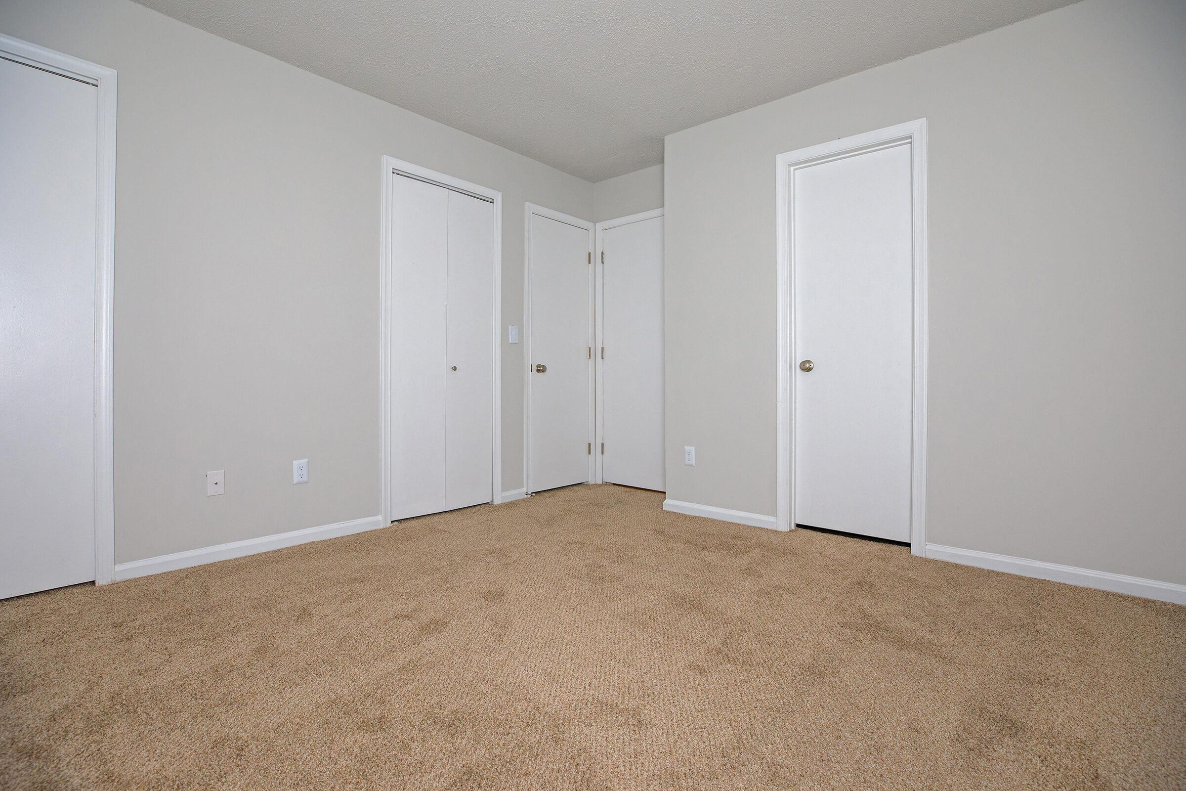 a close up of an empty room