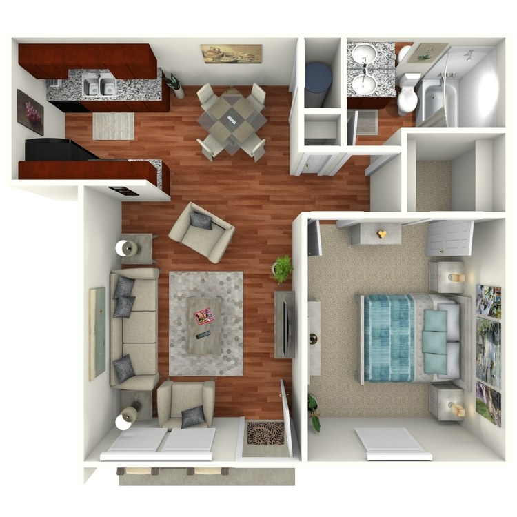 Floor plan image of The Palm Downstairs