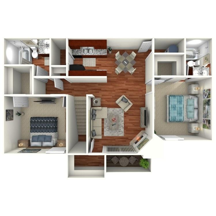 Floor plan image of The Magnolia Upstairs