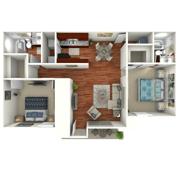 Floor plan image of The Magnolia Downstairs