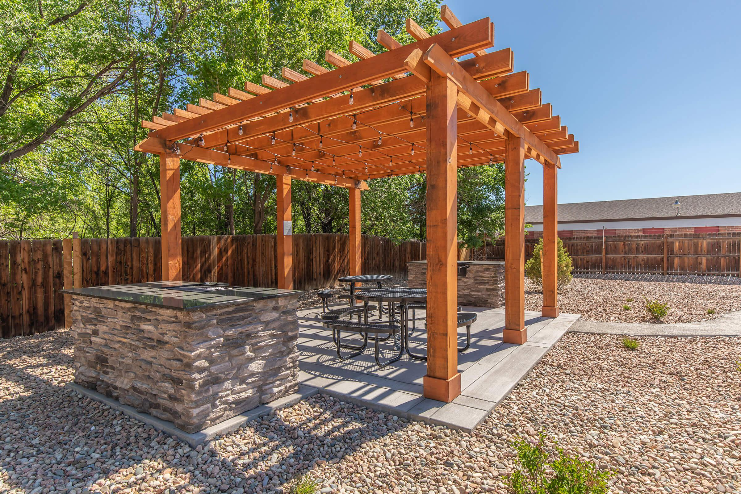 CREATE GREAT MEALS AT THE PICNIC AREA WITH BARBECUE
