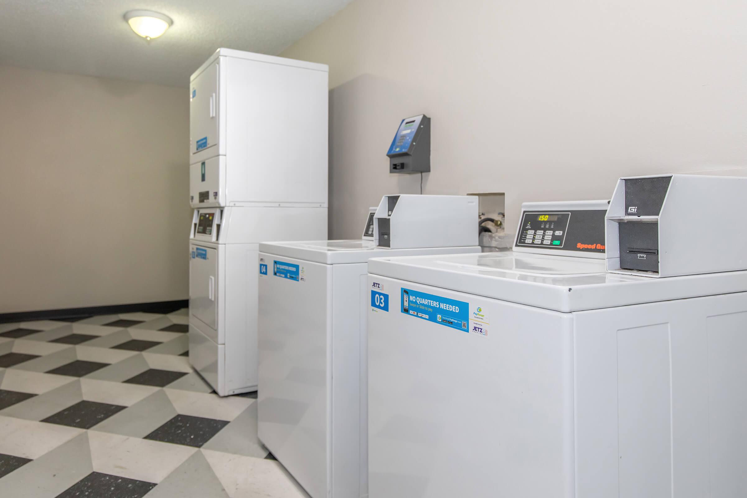 LOADS OF FUN AT OUR ON-SITE LAUNDRY FACILITY