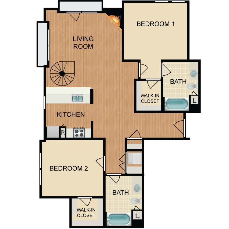 Floor plan image of Rob Roy