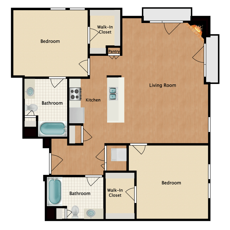 Floor plan image of Singapore Sling