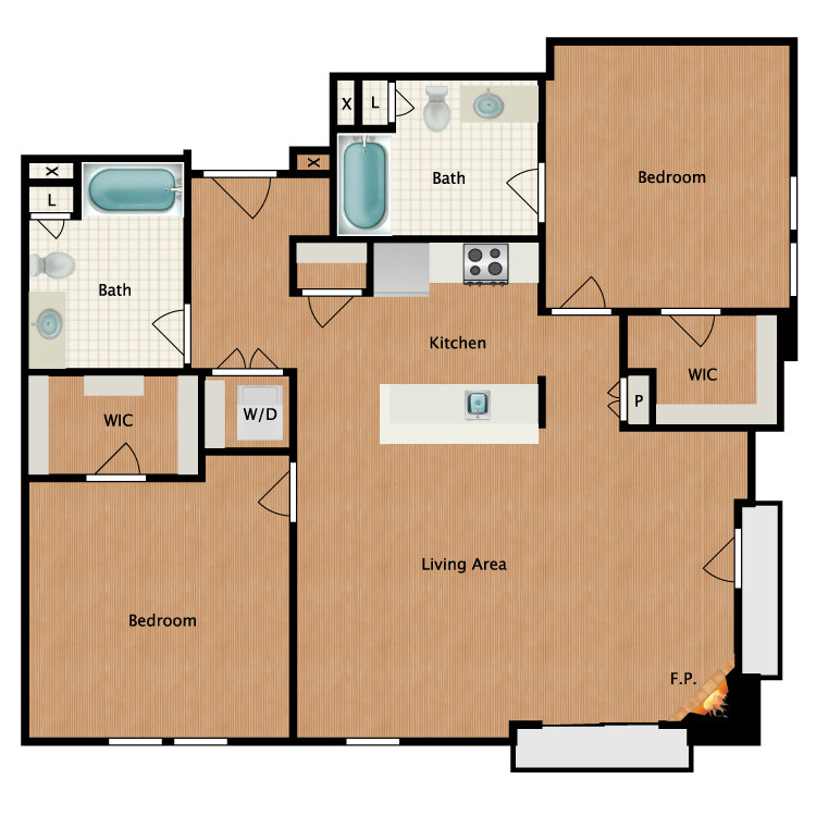 Floor plan image of Classic Martini