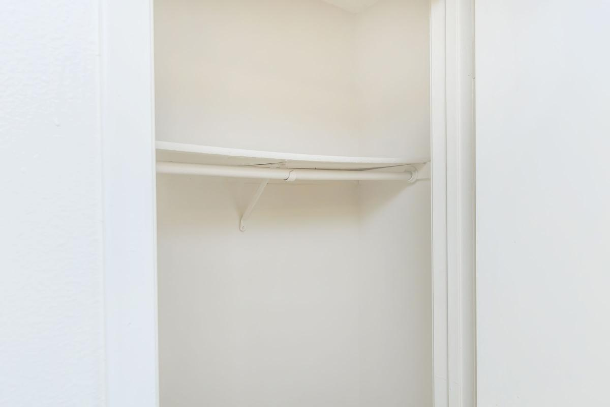 a close up of a white door