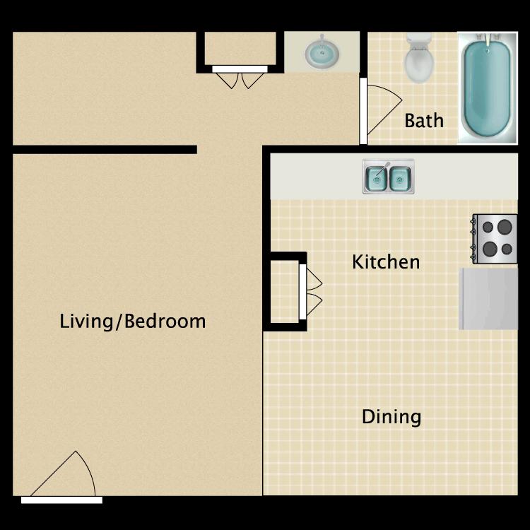 Floor plan image of Studio AE
