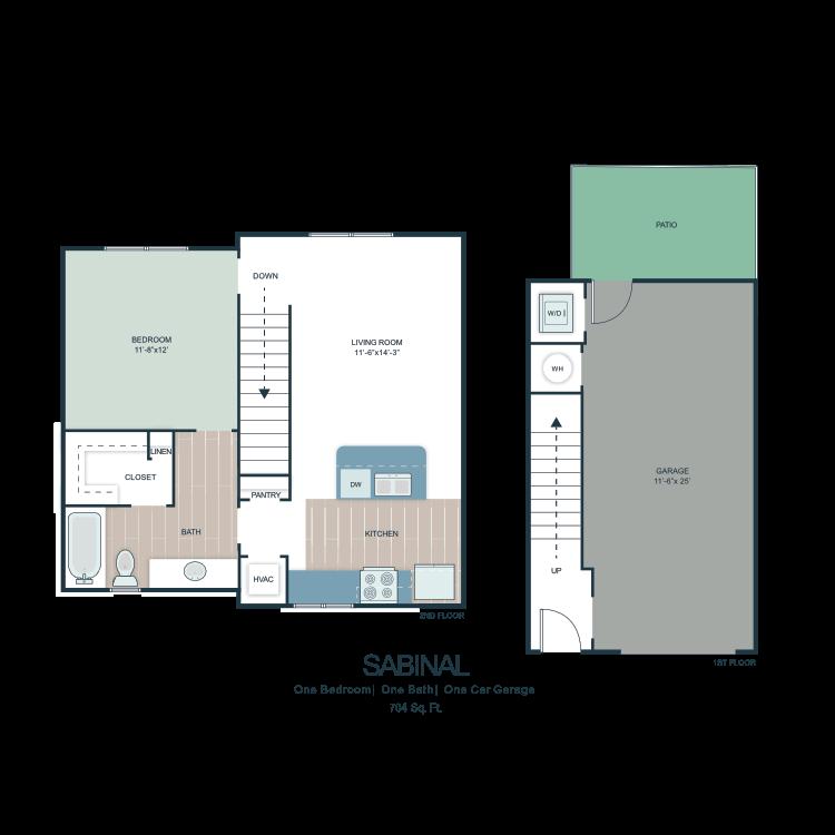 Sabinal floor plan image