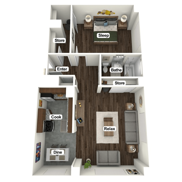 Floor plan image of Claypool Suite