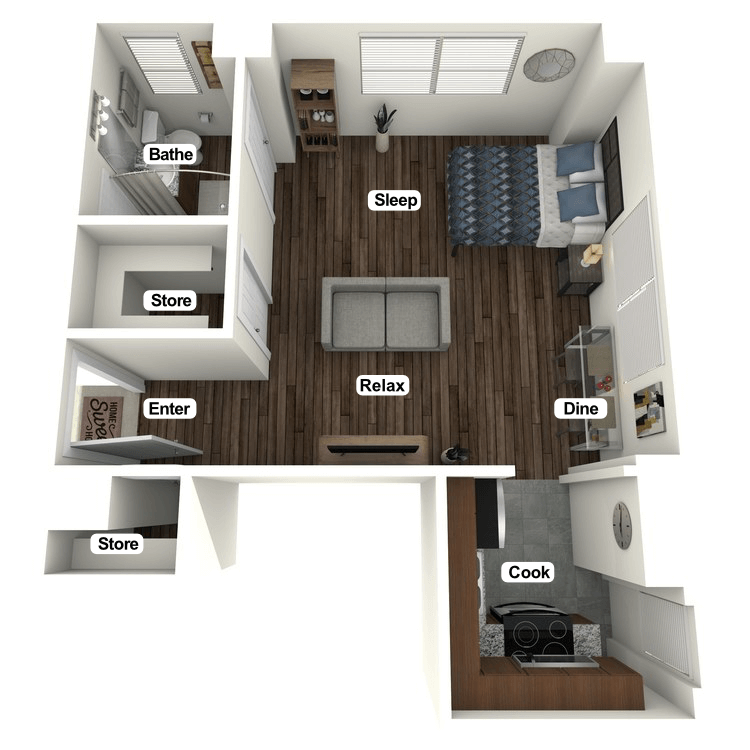 Floor plan image of Herron Studio