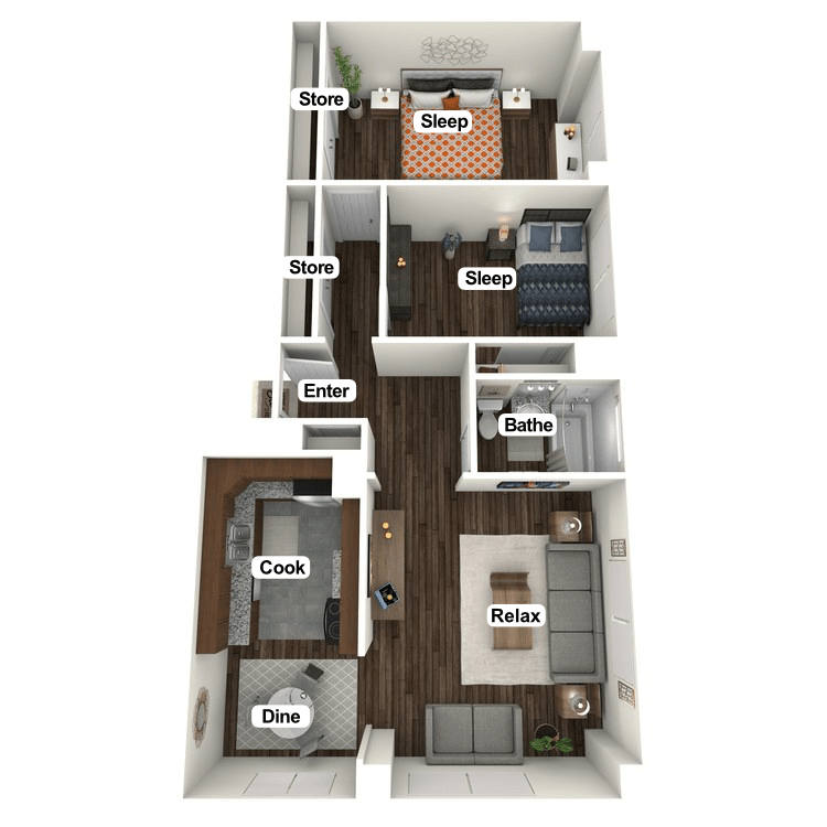 Floor plan image of Perry Morton Suite