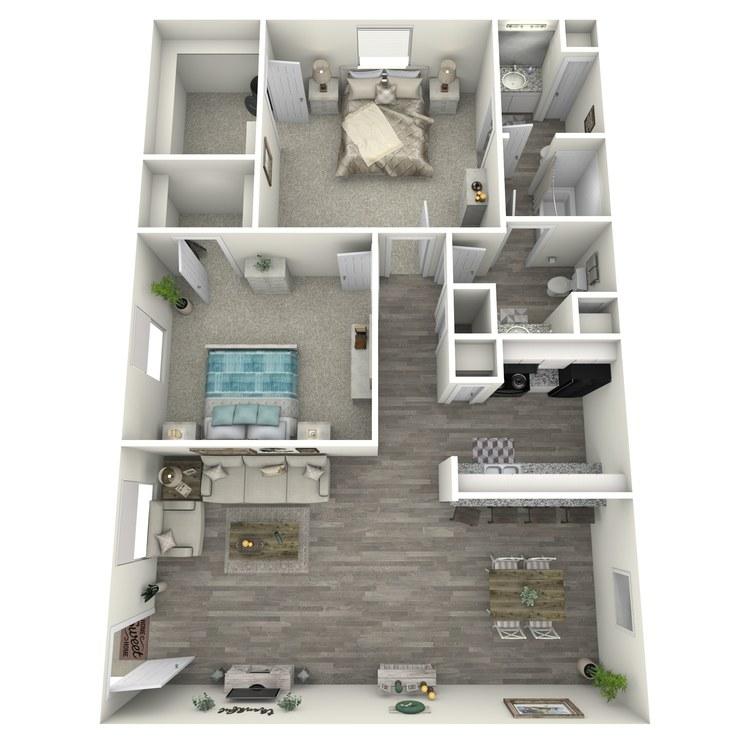 Floor plan image of 2-1.5 S