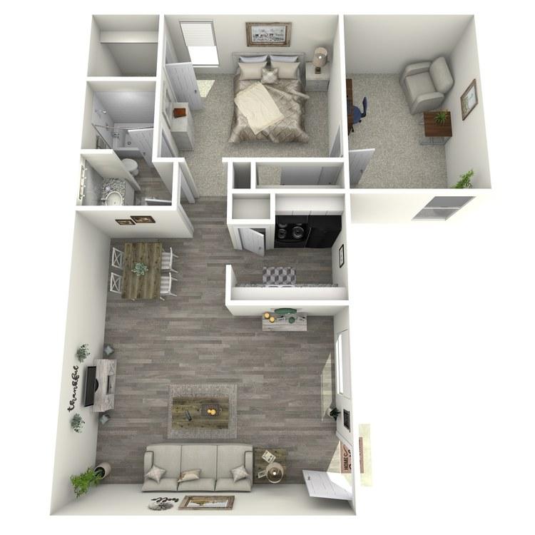 Floor plan image of 1-1 L