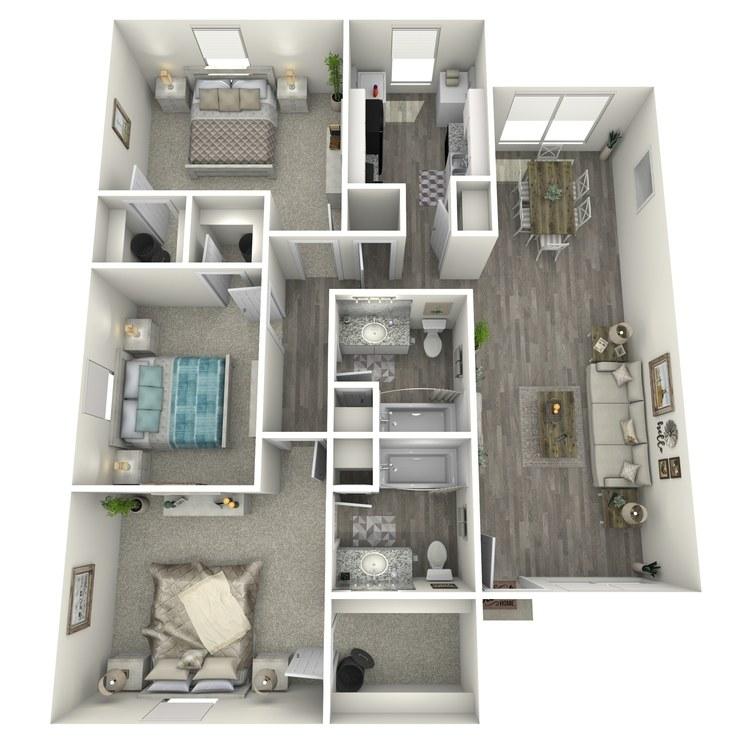 Floor plan image of 3-2