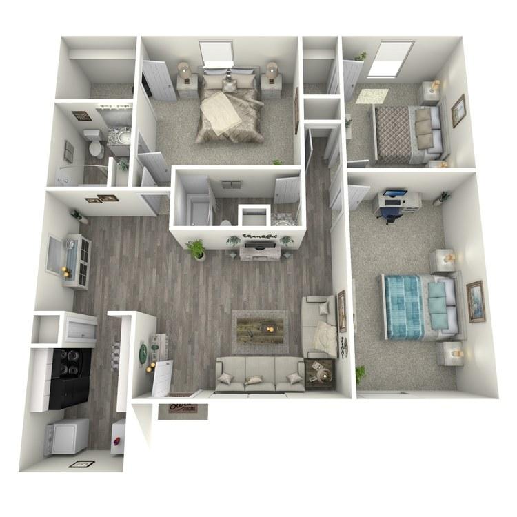 Floor plan image of 2-2 M