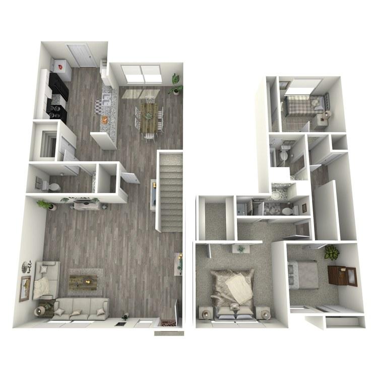 Floor plan image of 3-2.5 TH