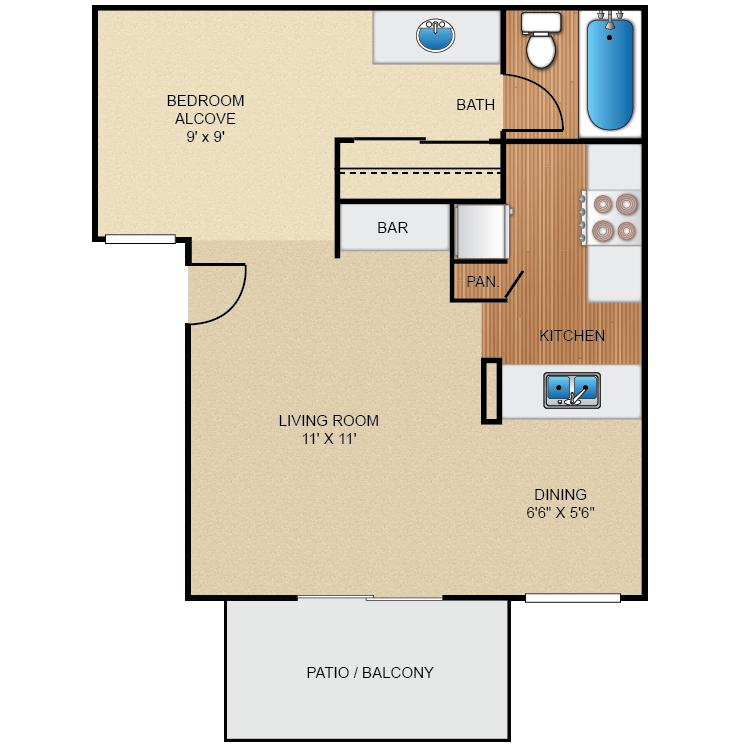 Oaks floor plan image