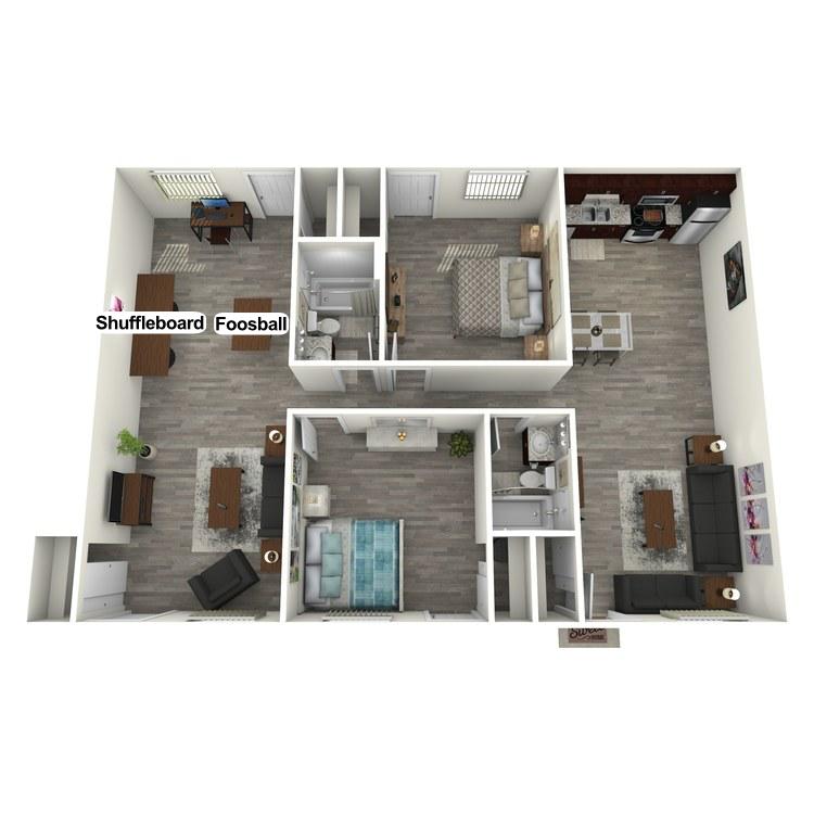 Floor plan image of 2 Bedroom Gameroom