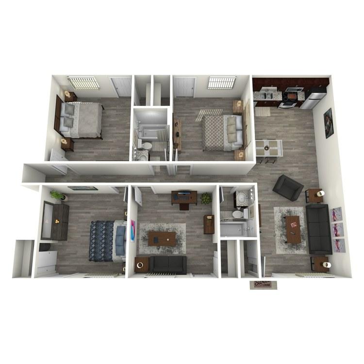 Floor plan image of 4x2