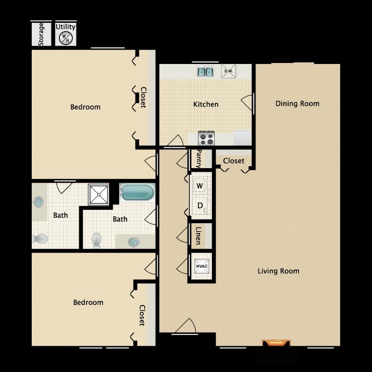 Floor plan image of Hacienda (Manor)