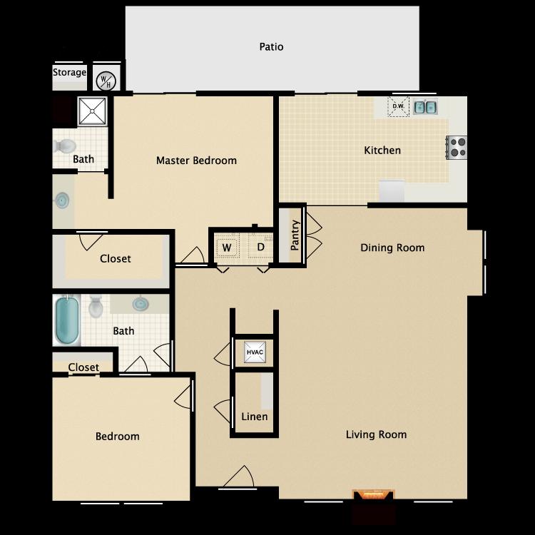 Floor plan image of Mendocino (Terrace)