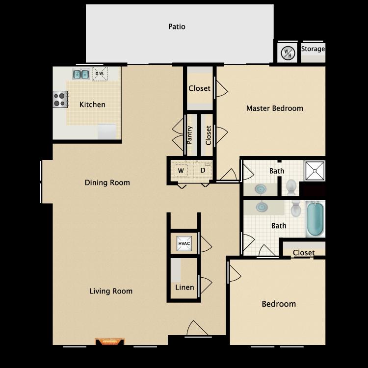 Floor plan image of Paseo (Terrace)