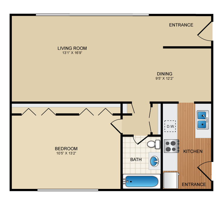 Floor plan image of Bugsy