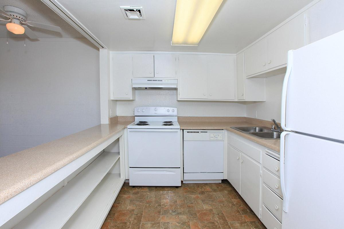 Fully-equipped kitchen at The Palms