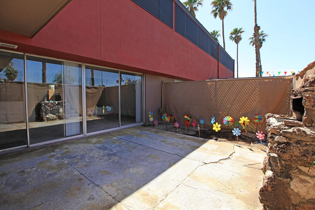 The Palms features patios