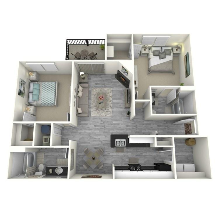 Floor plan image of Bay R
