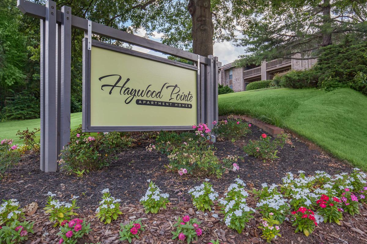 Main entrance at Haywood Pointe in Greenville, SC.