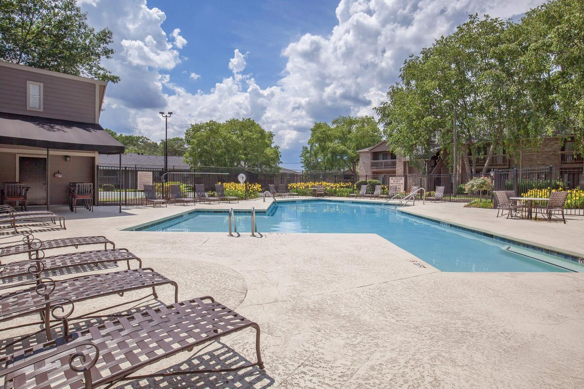 Relax by the pool at Haywood Pointe in Greenville, South Carolina.