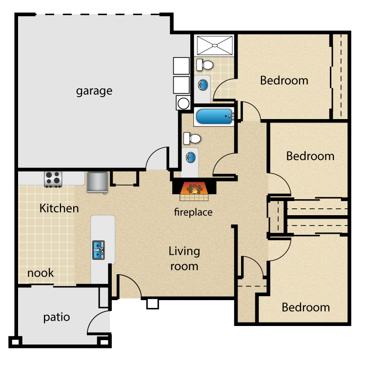 Floor plan image of Lincoln