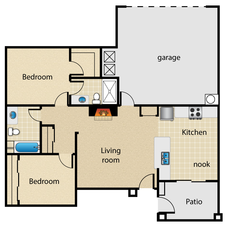 Floor plan image of Washington
