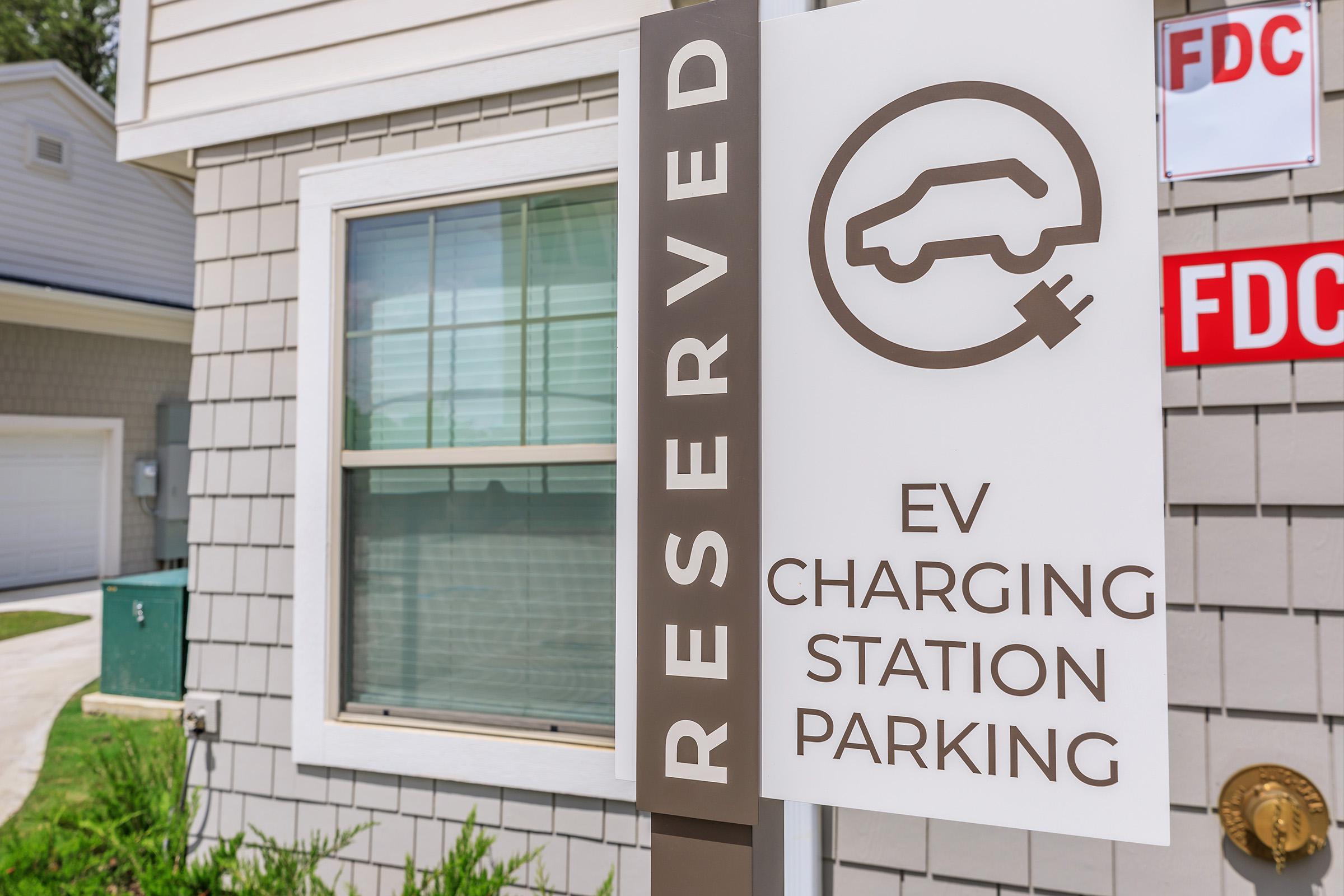 EV Charging Station at Ariza Gosling in Spring, Texas