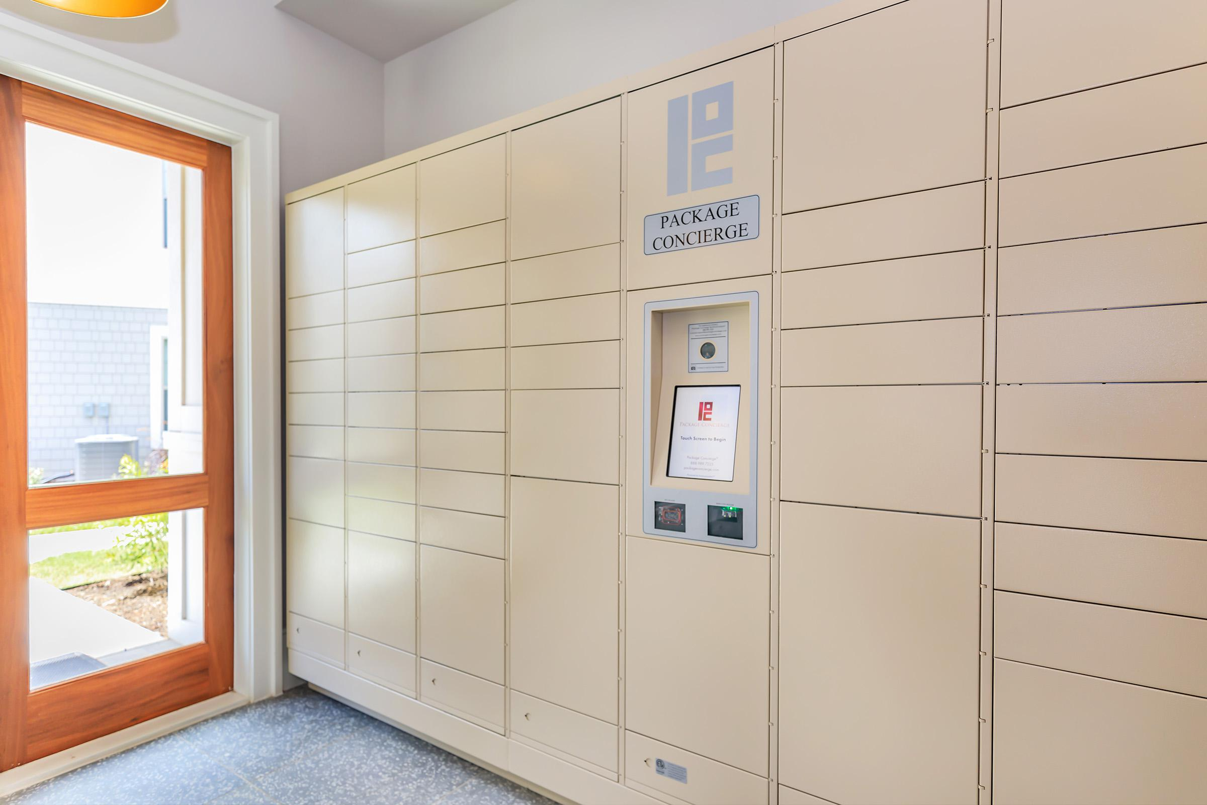 Package lockers at Ariza Gosling in Spring, Texas