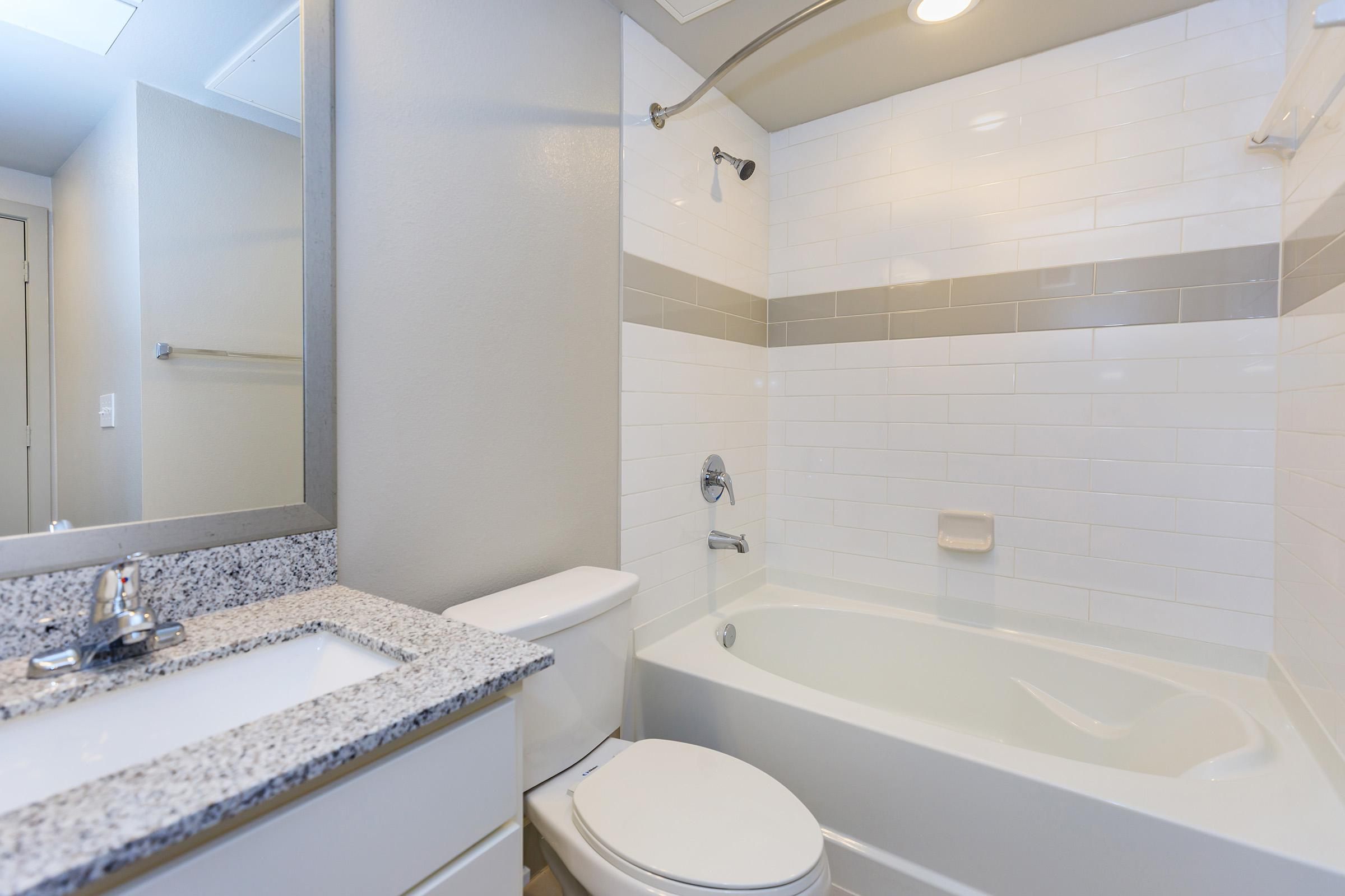 Chic bathrooms at Ariza Gosling in Spring, Texas