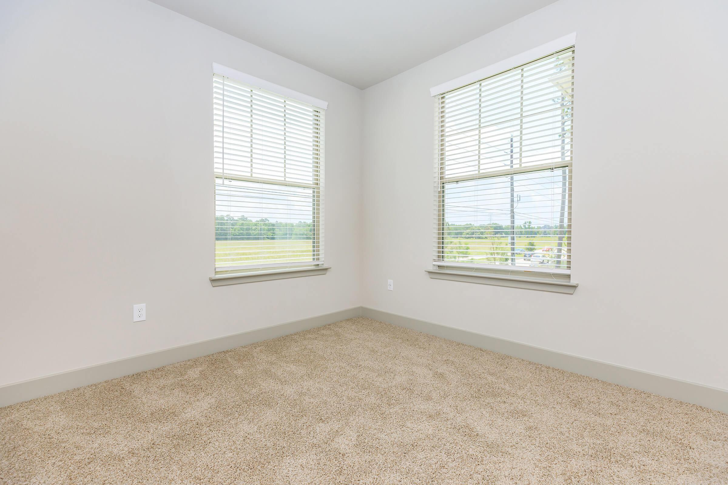 Plush carpeting in the bedrooms at Ariza Gosling in Spring, TX