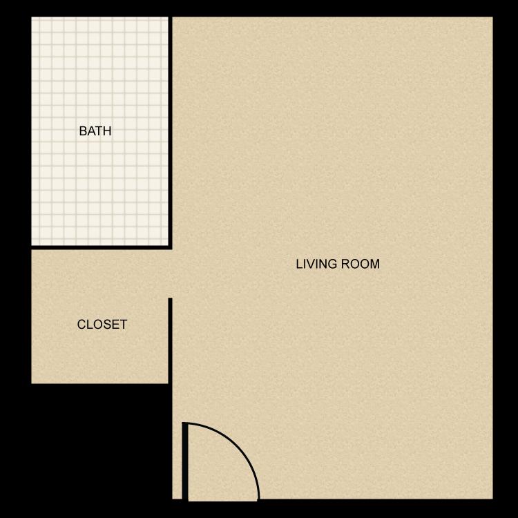 Bachelor floor plan image