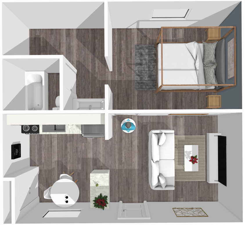 Floor plan image of Austin 1 Bed A