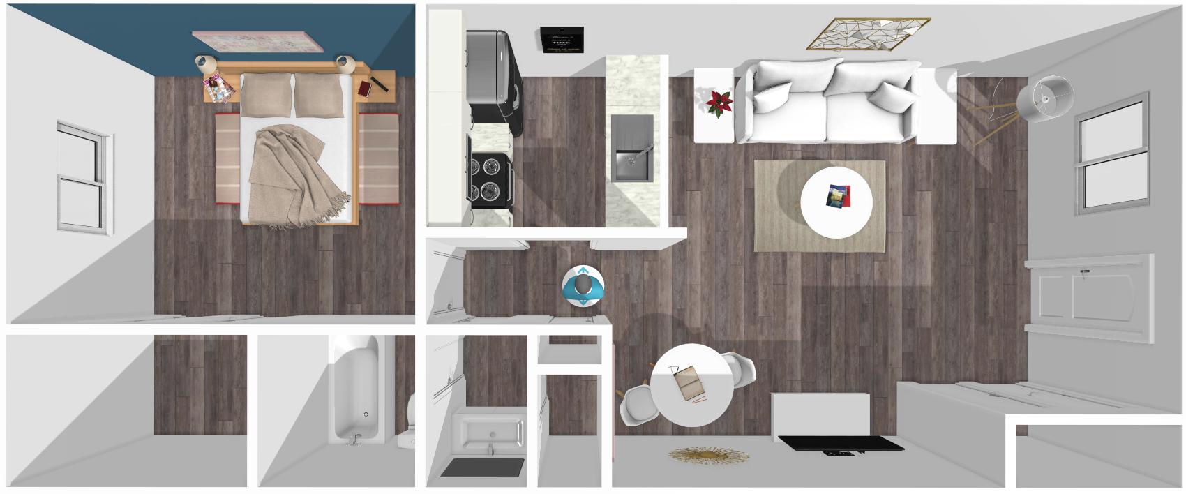 Floor plan image of Austin 1 Bed