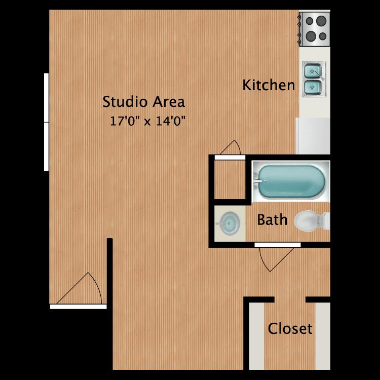 Floor plan image of Austin Studio