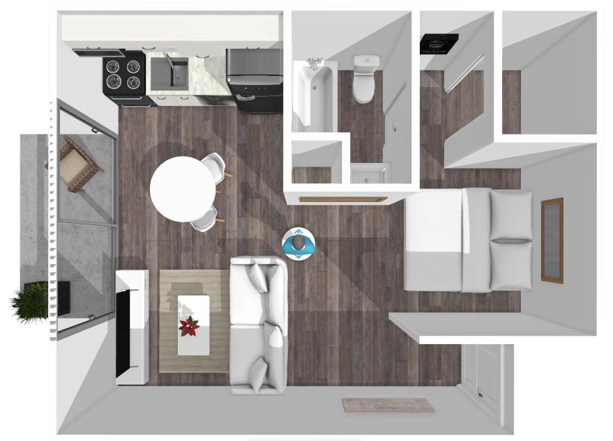 Floor plan image of Bowie Studio