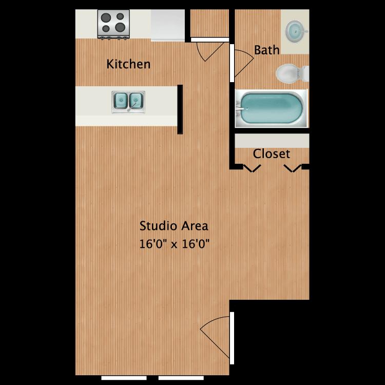 Floor plan image of Daniel Studio