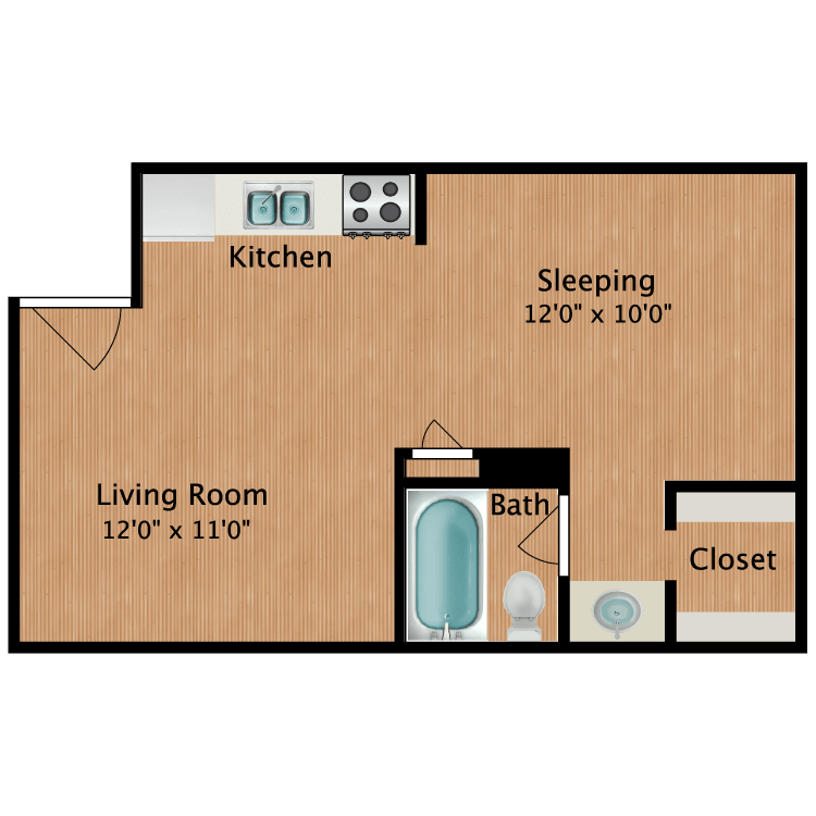 Floor plan image of Emily Studio