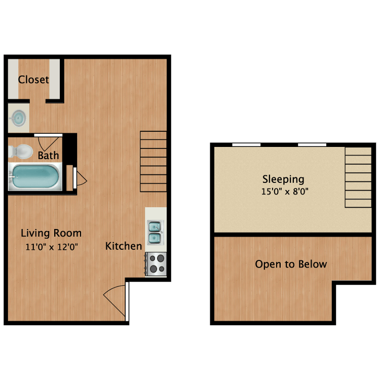 Floor plan image of Emily Loft