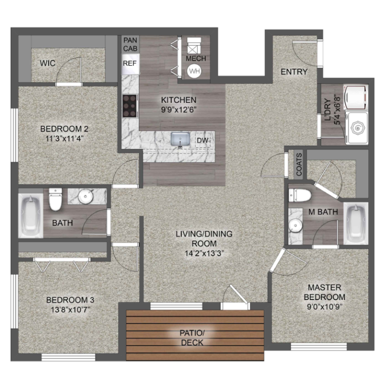 Floor plan image of The Solano