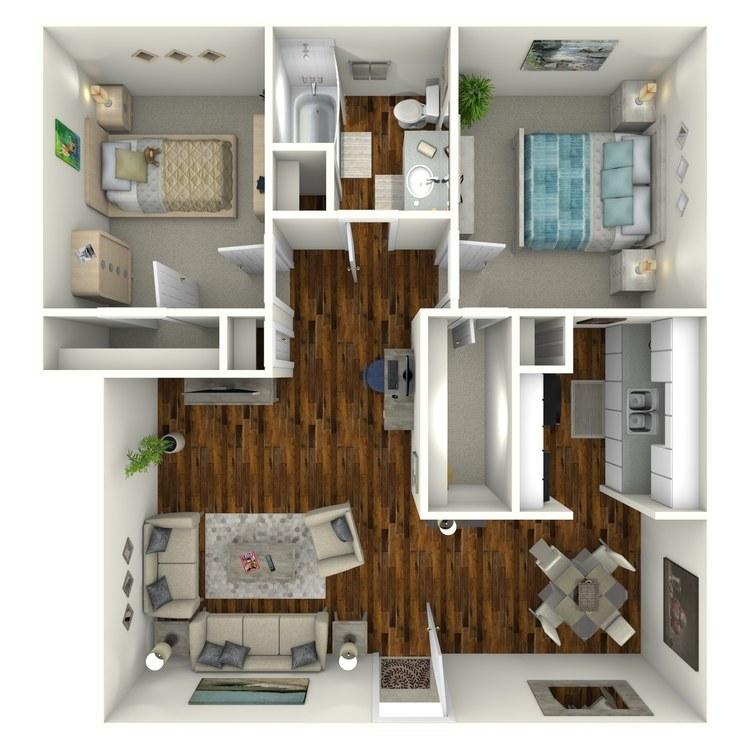 Floor plan image of Deluxe Suite